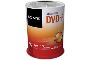 16X DVD-R Recordable DVD Media (4.7GB) - 100 Pack Spindle