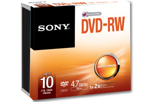 2x - DVD-RW Re-Recordable DVD Discs (4.7GB)