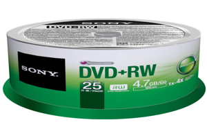 DVD+RW Rewritable DVD Media – 25 Pack