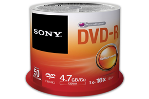 DVD-R Recordable Storage – 50 Discs