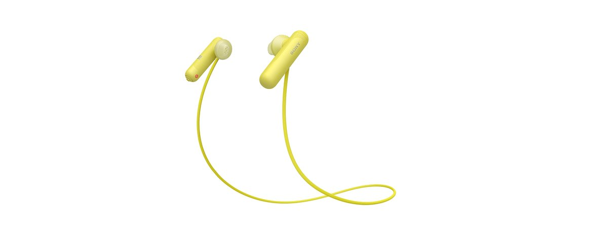 Sony WI-SP500 Wireless In-Ear Sports Headphones with Microphone, Bluetooth  and NFC, Yellow