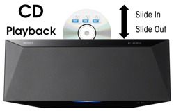 Enjoy convenient CD playback<sup>1</sup>