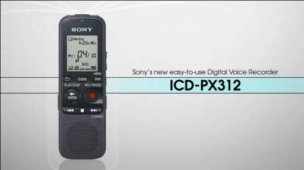 sony icd px312 digital voice recorder by office depot officemax rh officedepot com sony digital voice recorder icd px312 manual Sony ICD-PX312 Pouch