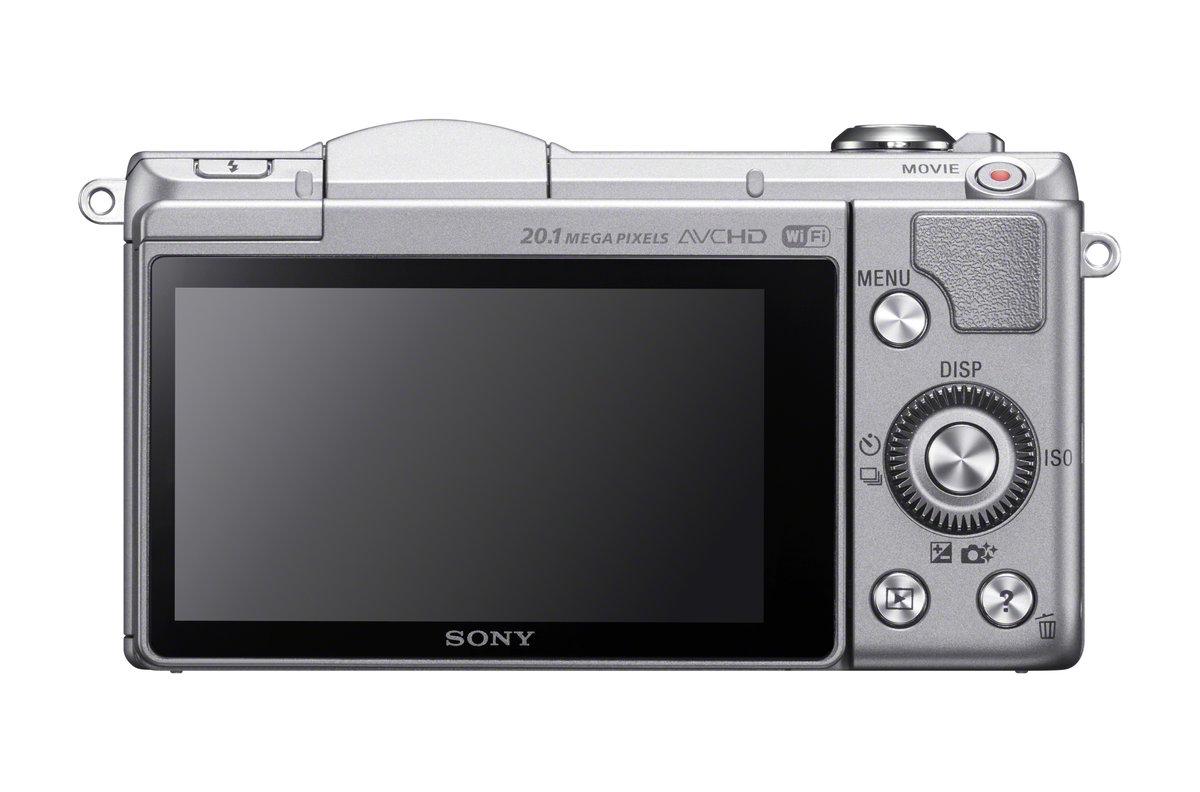 ILCE-5000L/S a5000 20 1 MP Compact Interchangeable Lens DigiCam-Silver OPEN  BOX