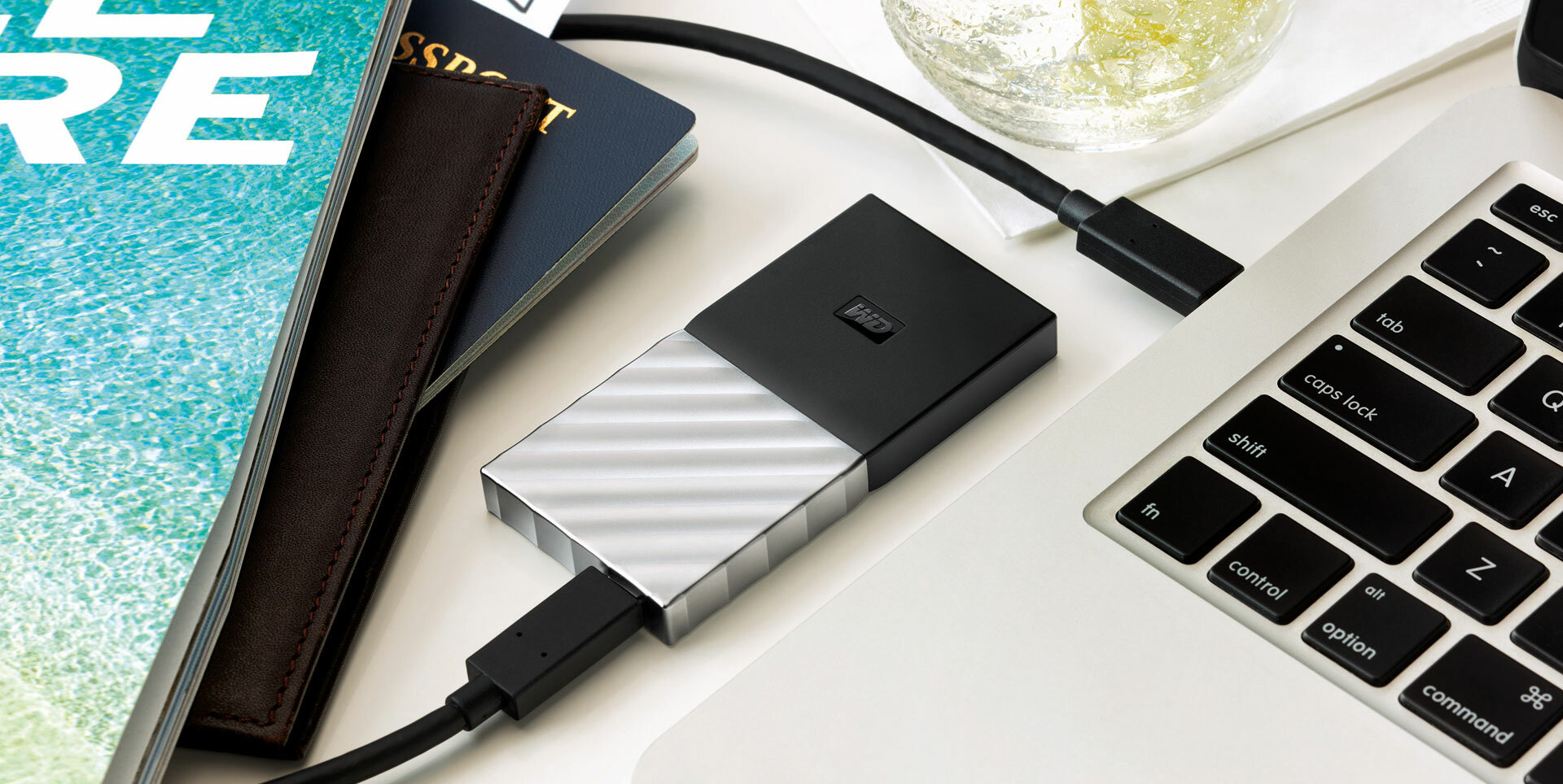Image result for EASY TO USE My Passport SSD portable storage is ready to use out of the box. Whether you're backing up word docs or saving large media files, just plug it in and start transferring right away.
