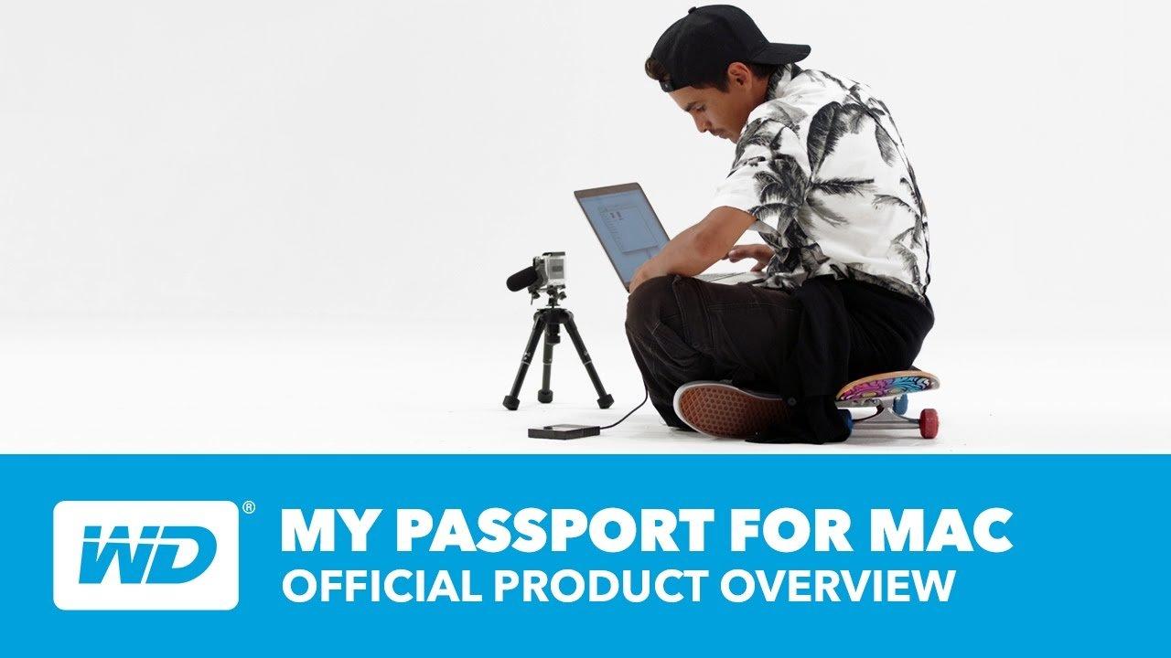 Western Digital® My Passport™ 2TB Portable External Hard Drive For Apple®  Mac®, Black Item # 4812214