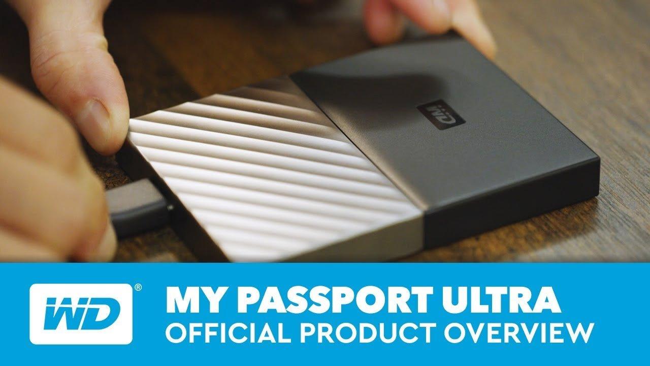 Western Digital My Passport Ultra 1TB White/Gold External HDD