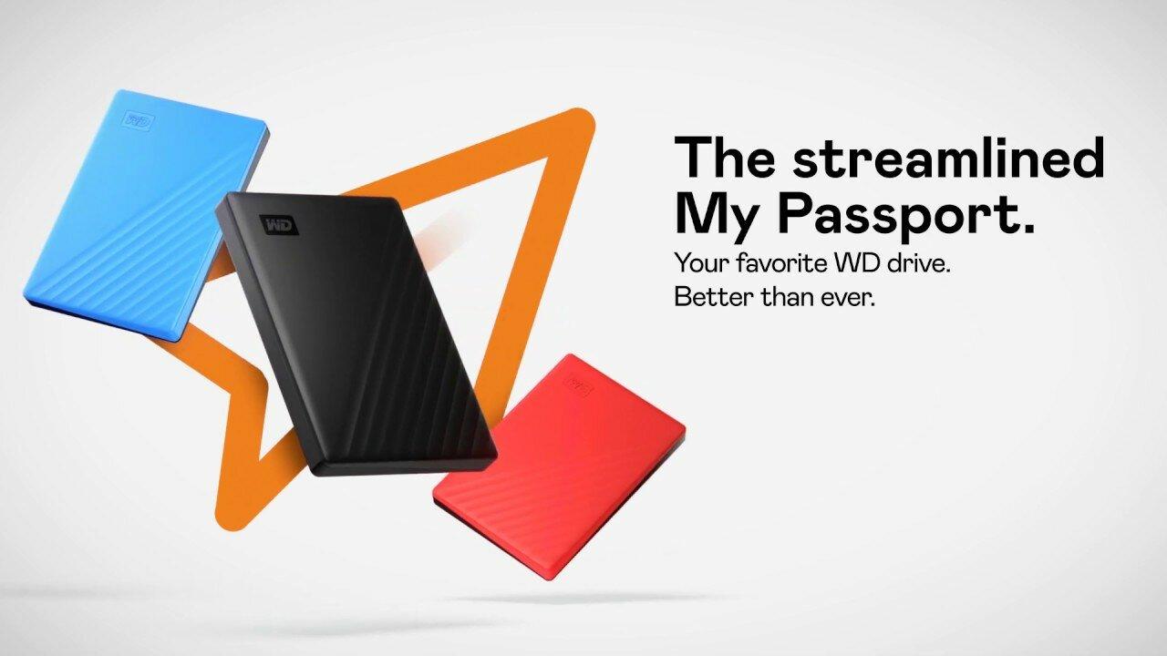 WD 2TB My Passport Portable Storage USB 3 2 Gen 1 - Blue -  WDBYVG0020BBL-WESN