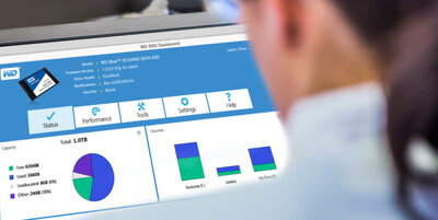 Downloadable WD SSD Dashboard and Acronis software