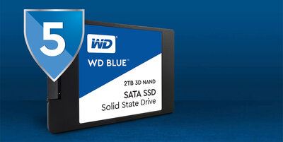 WD Blue 3D NAND 500GB Internal SSD - SATA III 6Gb/s 2 5